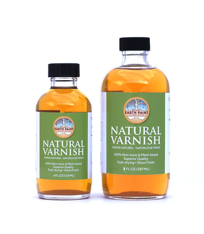 Natural Varnish (8 oz) In glass bottle