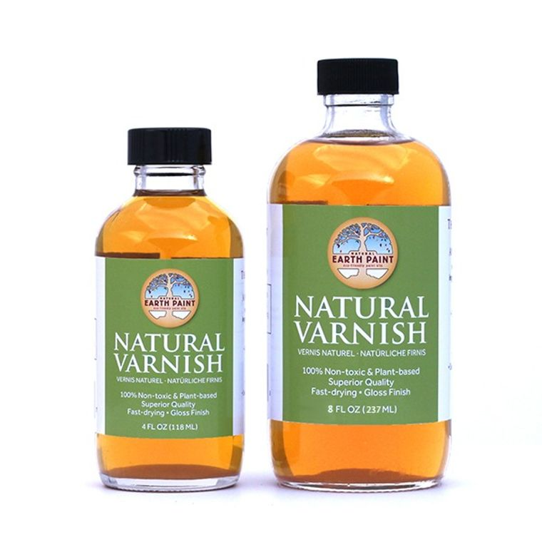 Natural Varnish (4 oz) In glass bottle