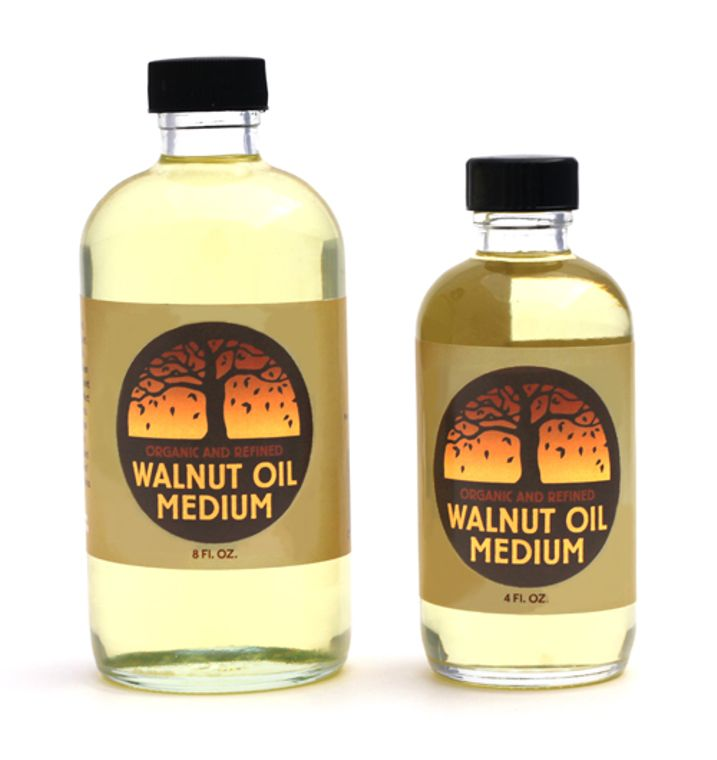 Walnut Oil - Refined (4 oz) In glass bottle