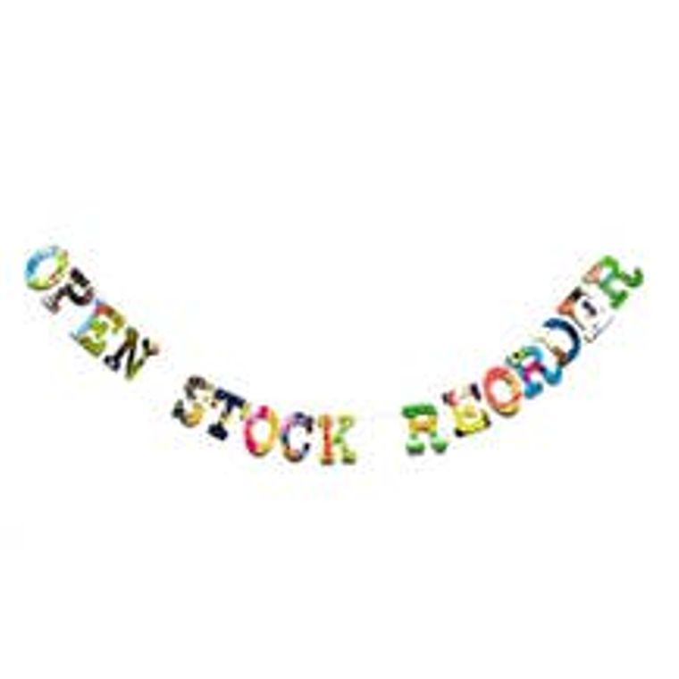 Open Stock Letters Reorder (130 Letter)