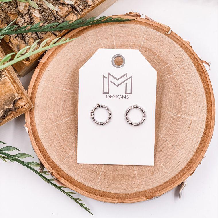 Dawsyn Earrings - White Gold