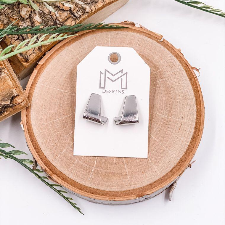 Lane Earrings - White Gold