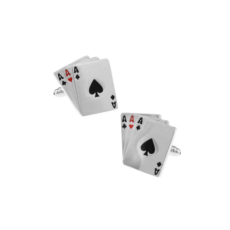 Ace High Playing Card Cufflinks