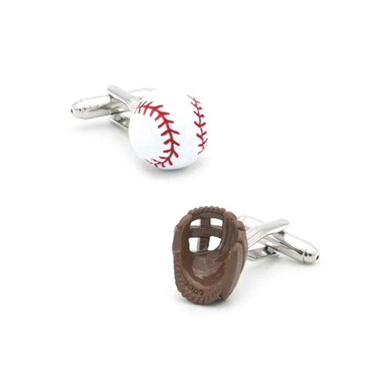 Baseball Ball & Glove Cufflinks