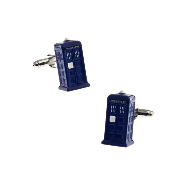 Dr. Who Tardis Cufflinks