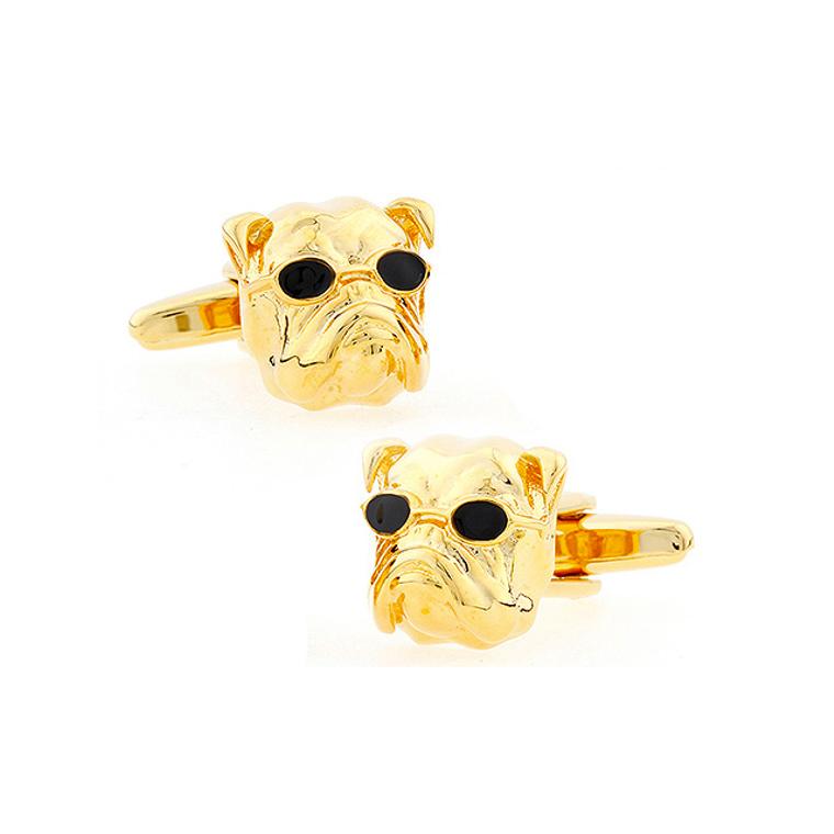 Gold Bulldog Cufflinks