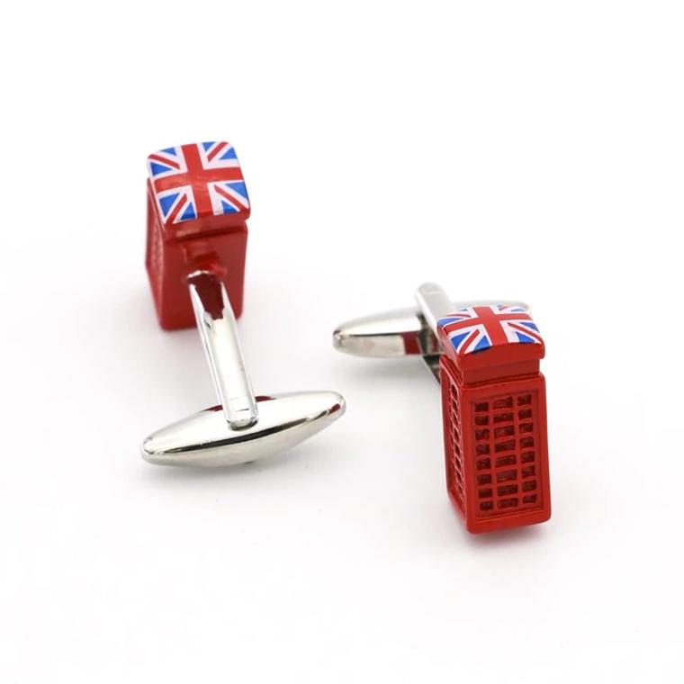 Red London Phone Booth Cufflinks
