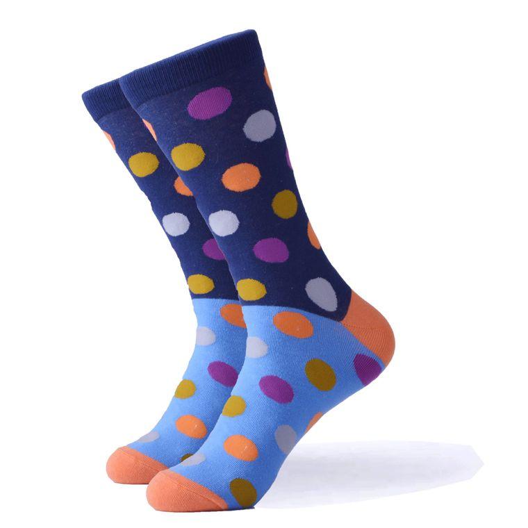 2 Layer Multi Color Polka Dot Socks
