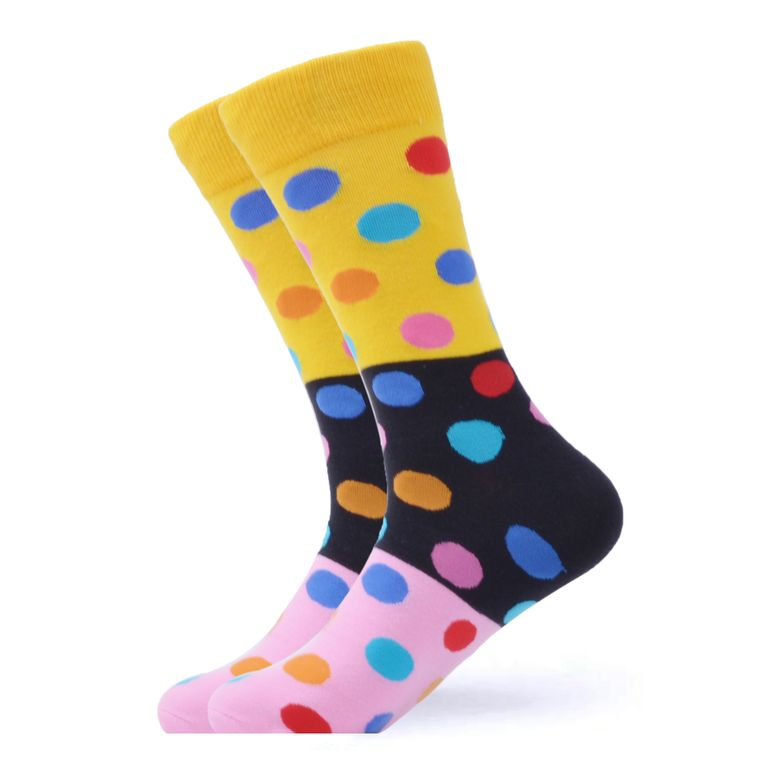 3 Layer Multi Color Polka Dot Socks