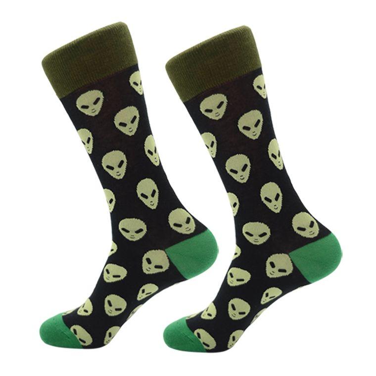 Area 51 Green Alien Socks