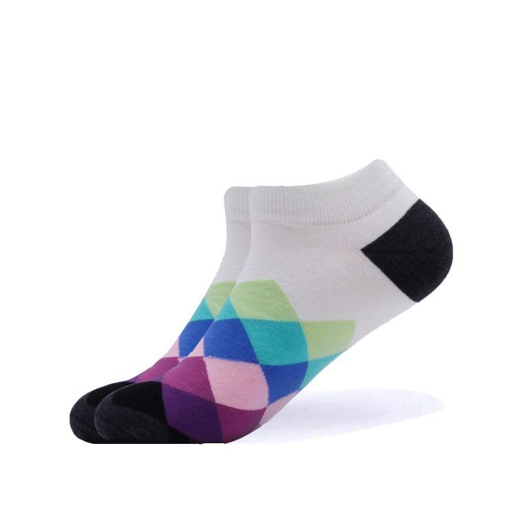 Argyle Flying High Ankle Socks