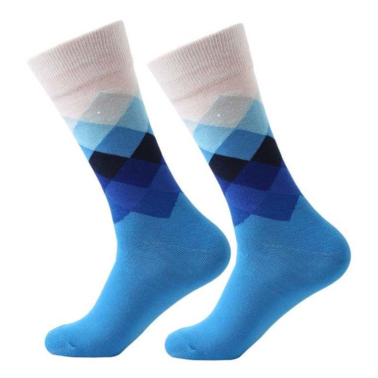 Argyle Waves Socks