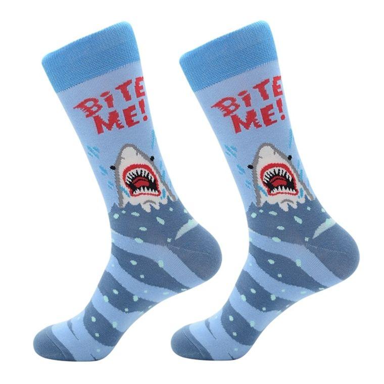 Bite Me Shark Socks