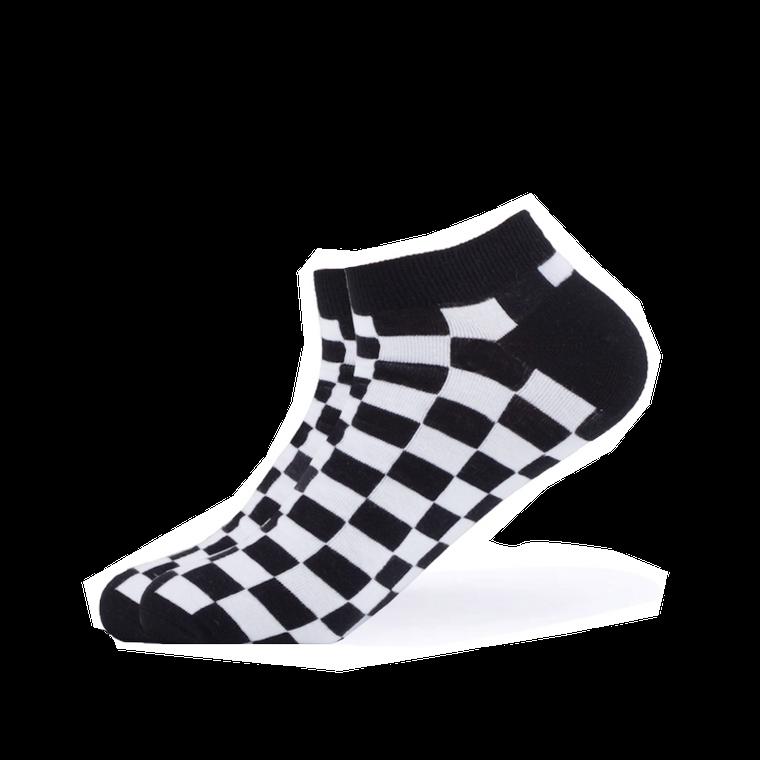Black & White Checkered Ankle Socks
