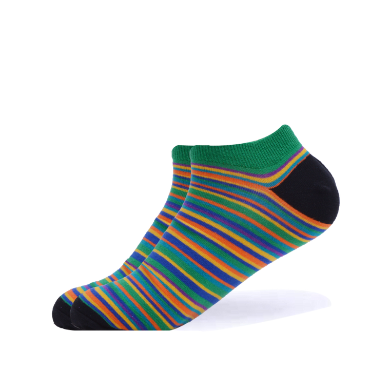 Bright & Bubbly Striped Ankle Socks