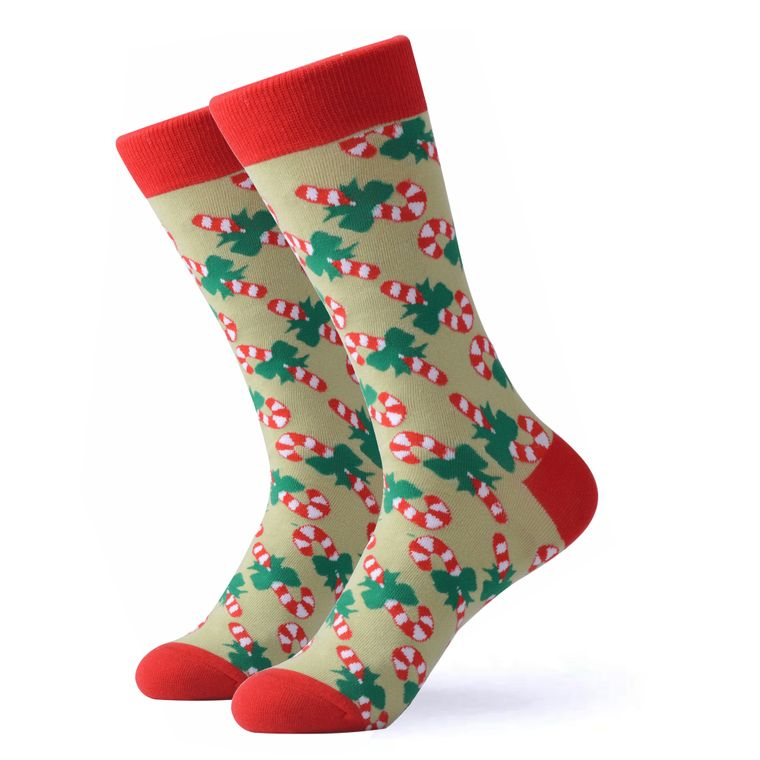 Candy Cane Christmas Socks