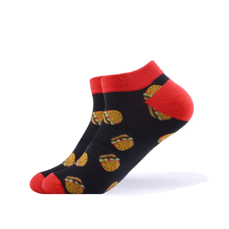 Cheesburger Ankle Socks