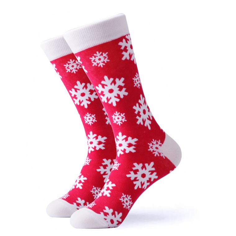 Large Christmas Snowflake Socks