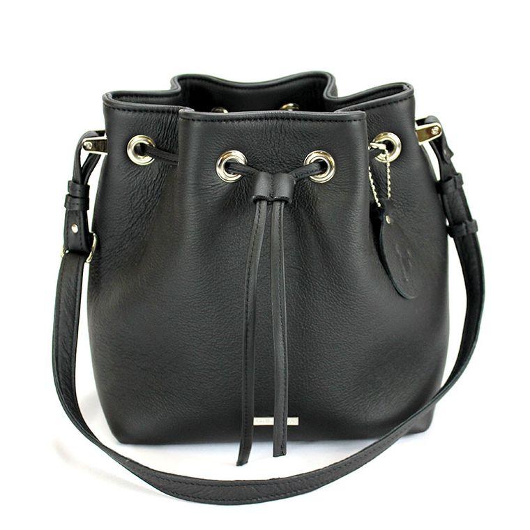 Casey Leather Bucket Bag