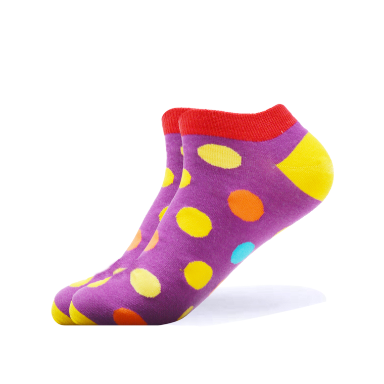 Purple Big Dots Ankle Socks