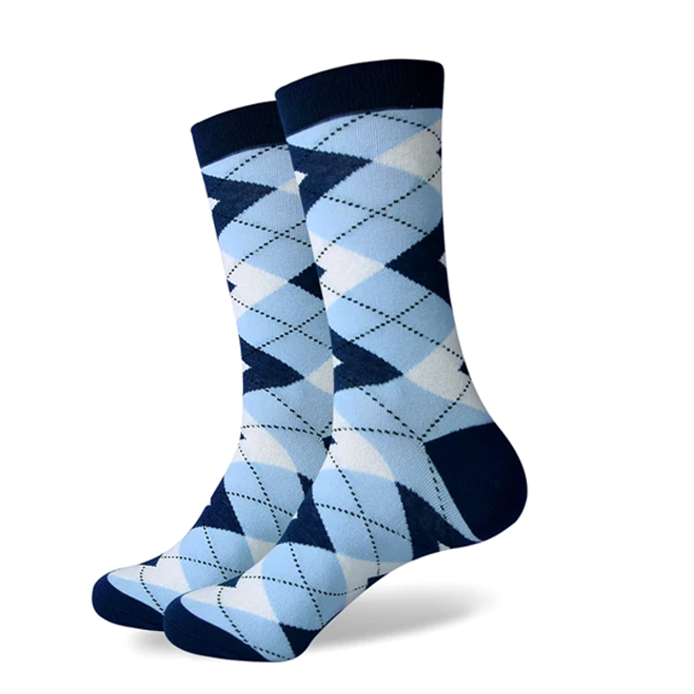 Shades of Blue Argyle Socks