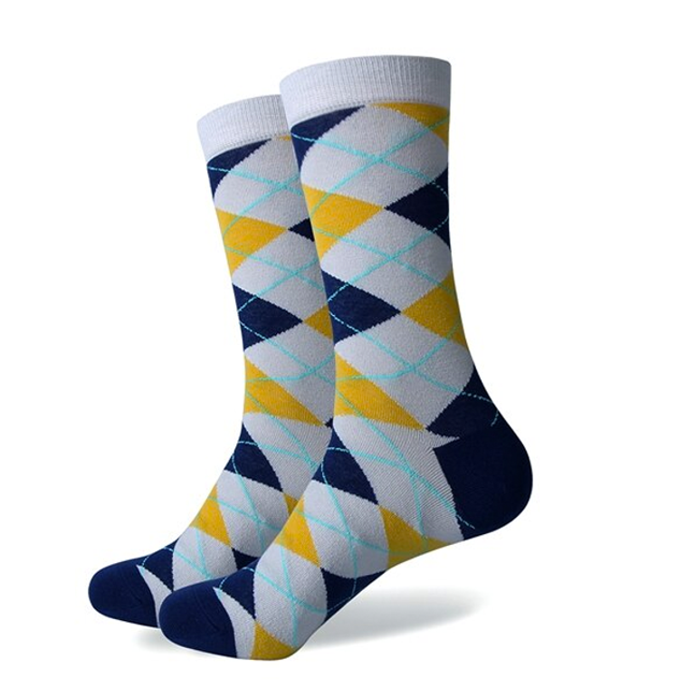 Snowy Colorful Argyle Socks