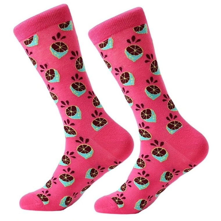 Women's Pink Dragon Fruit Socks