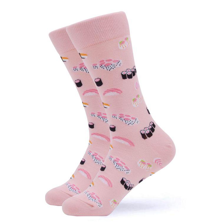 Women's Pink Sushi Socks