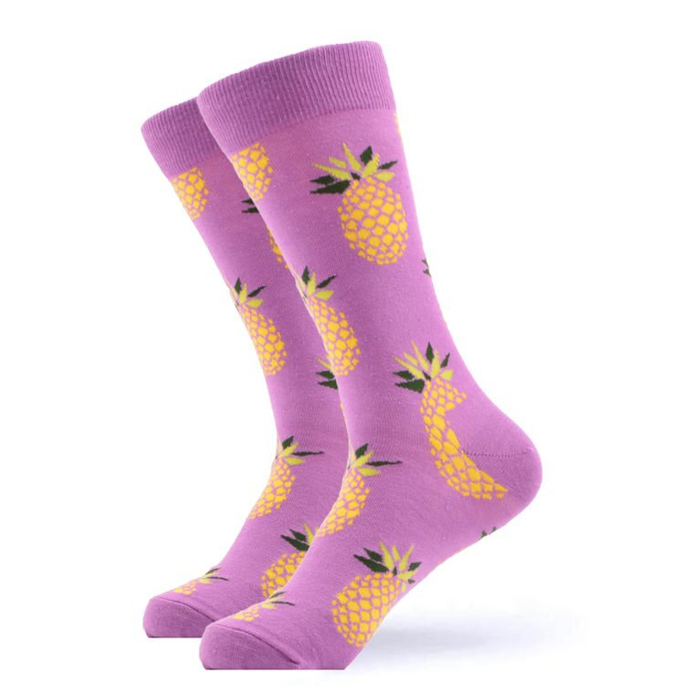 Women's Purple Pineapple Socks