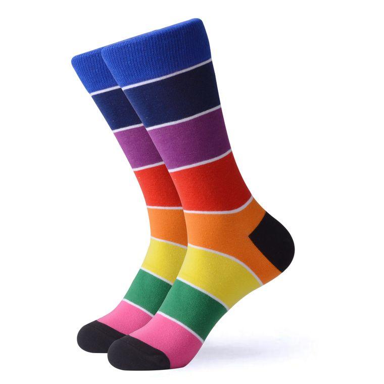 Women's Rainbow Striped Socks V2