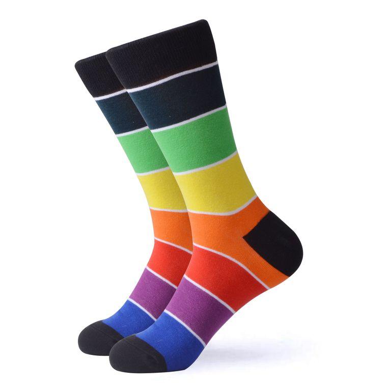 Women's Rainbow Striped Socks V3