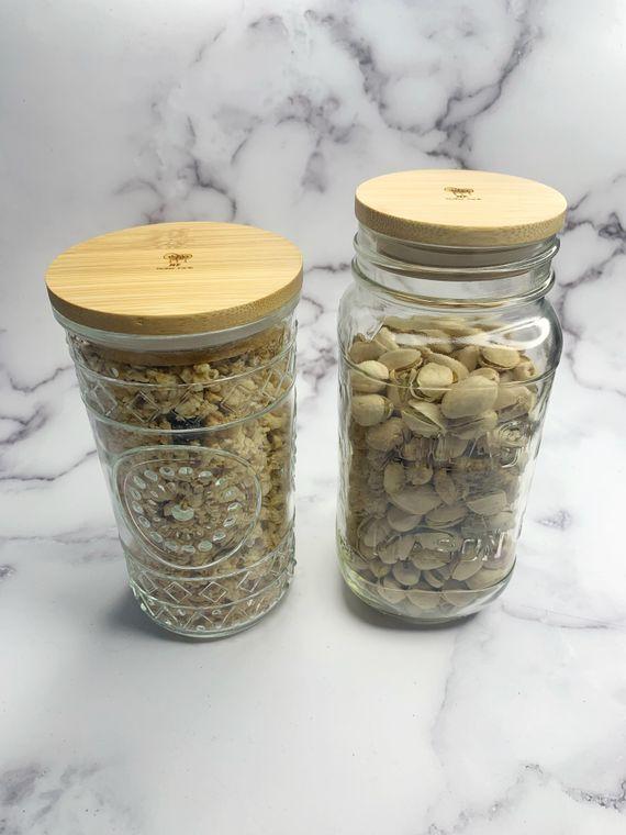 WIDE Solid Bamboo Mason Jar Lids