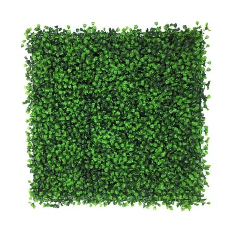 Artificial Hedge Plant, Greenery Panels Suitable for Both Outdoor or Indoor use, Garden, Backyard and/or Home Decorations, Boxwood 20 x 20 Inch (12 pack)