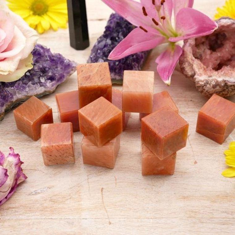 Orange Jade Cubes