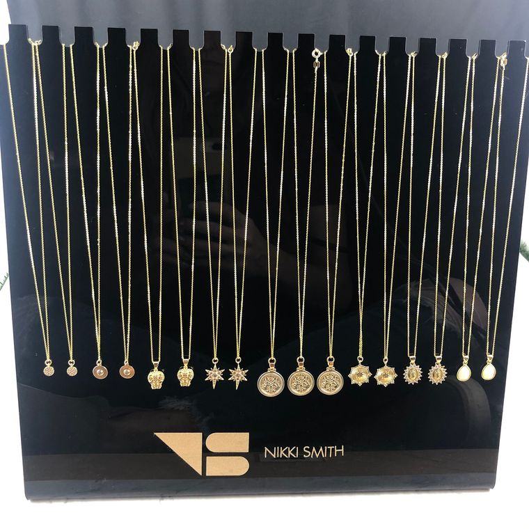 Holiday Gold Short Necklace Display