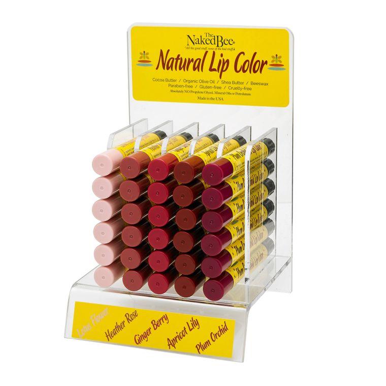 Natural Lip Color Prepack with Display
