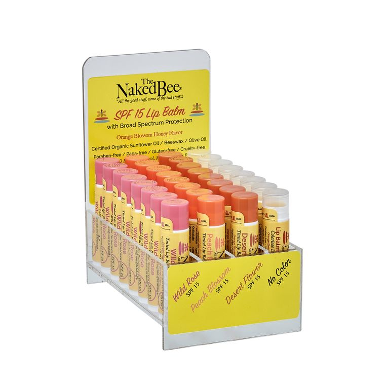 SPF 15 Lip Balm Prepack with Display