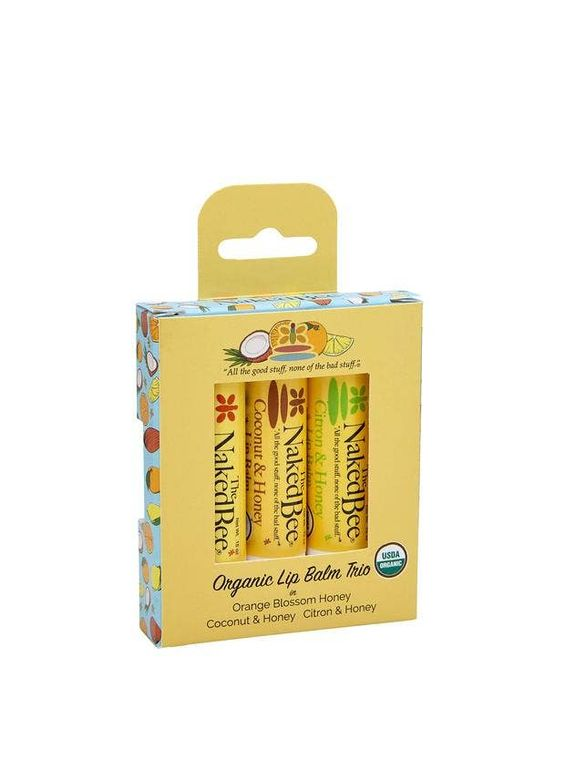 3 Pack Organic Lip Balm Gift Set