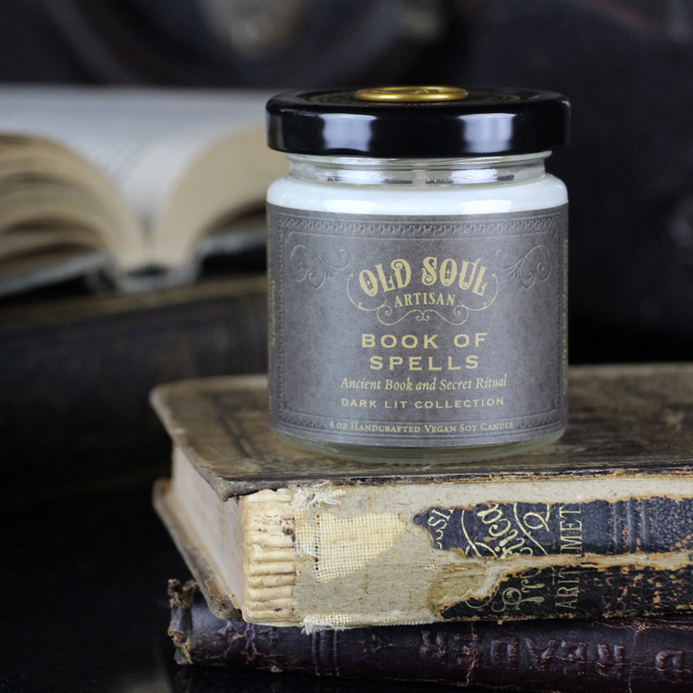 Book of Spells - 4 ounce soy candle