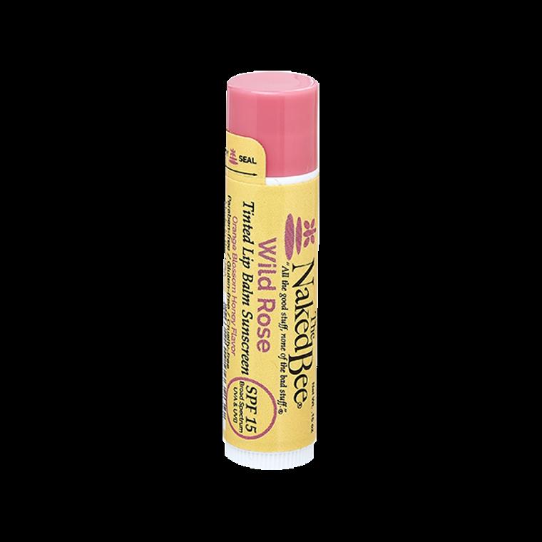 SPF 15 Orange Blossom Honey Tinted Lip Balm in Wild Rose