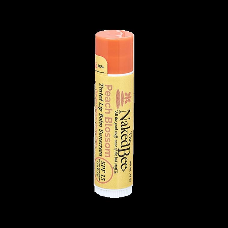 SPF 15 Orange Blossom Honey Tinted Lip Balm in Peach Blossom