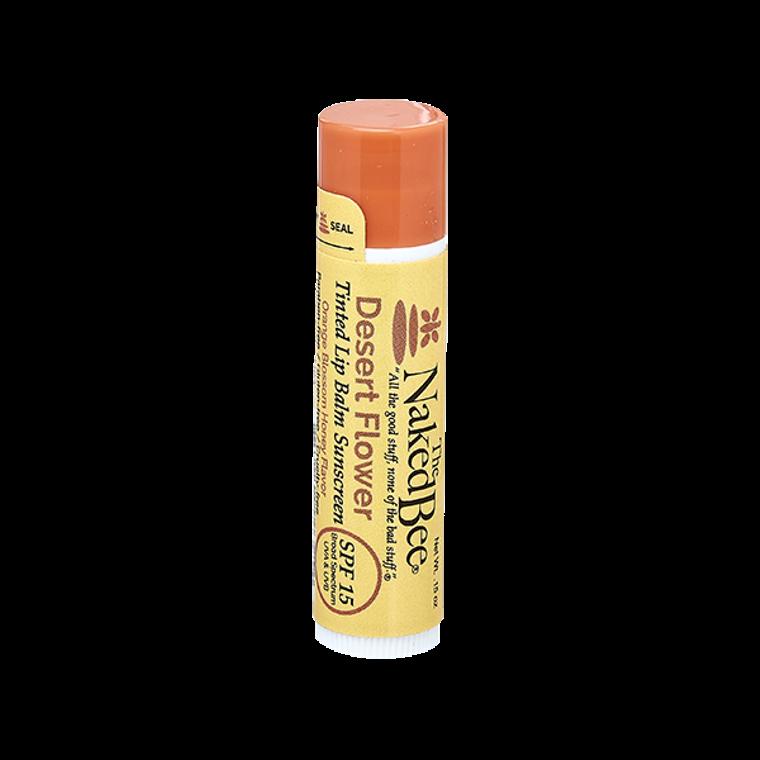 SPF 15 Orange Blossom Honey Tinted Lip Balm in Desert Flower