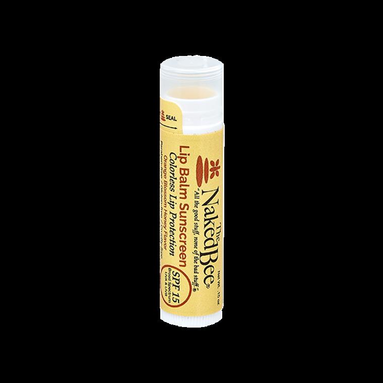 SPF 15 Orange Blossom Honey Colorless Lip Balm