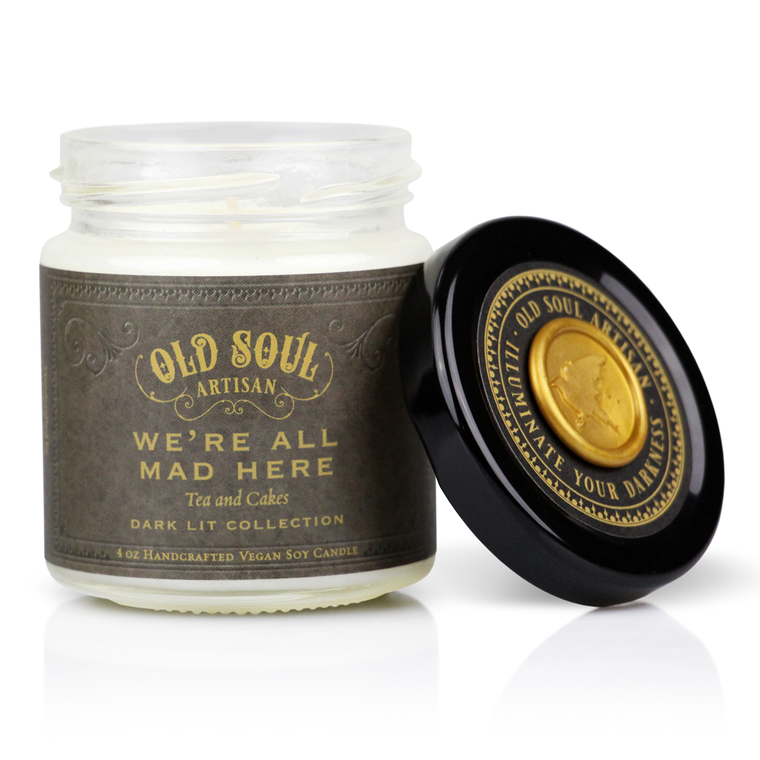 We're All Mad Here - 4 ounce soy candle