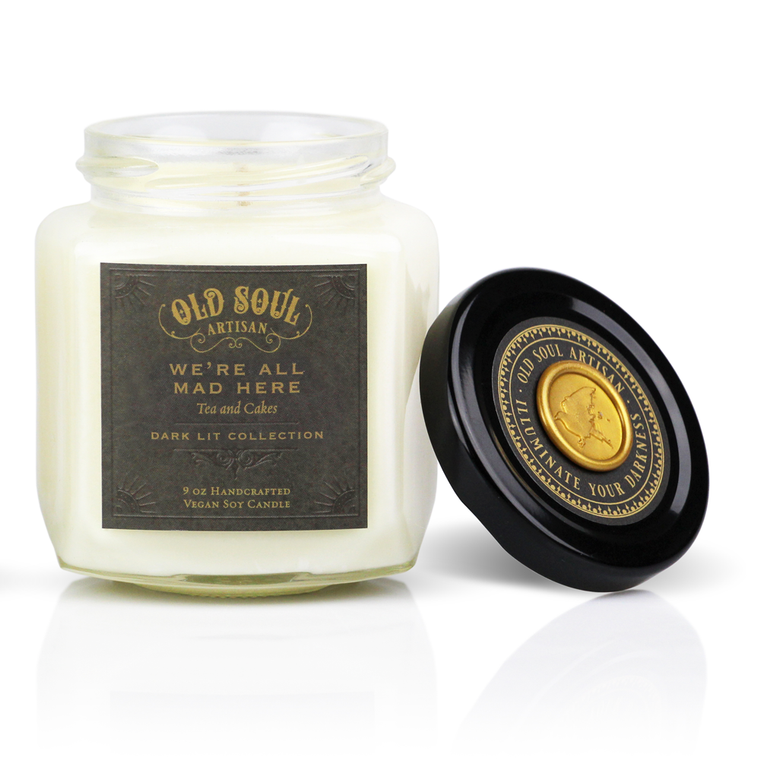We're All Mad Here - 9 ounce soy candle