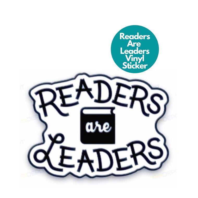 Vinyl Sticker -- Readers Are Leaders