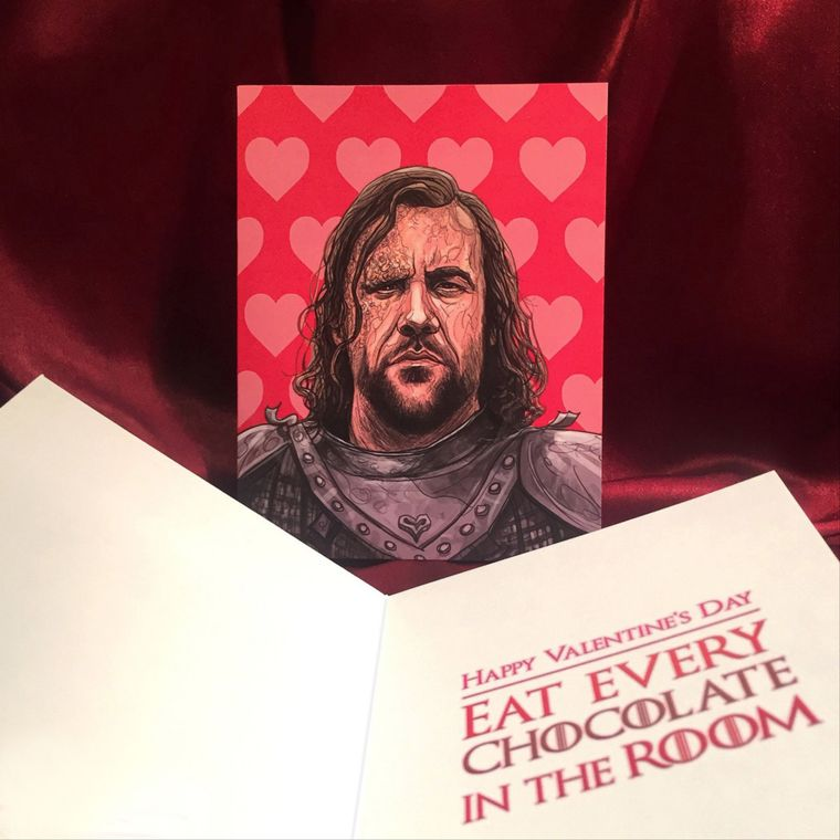 The HOUND Game of Thrones Valentine's Day CARD
