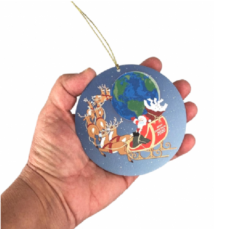 Santa's Flight 2020 Ornament