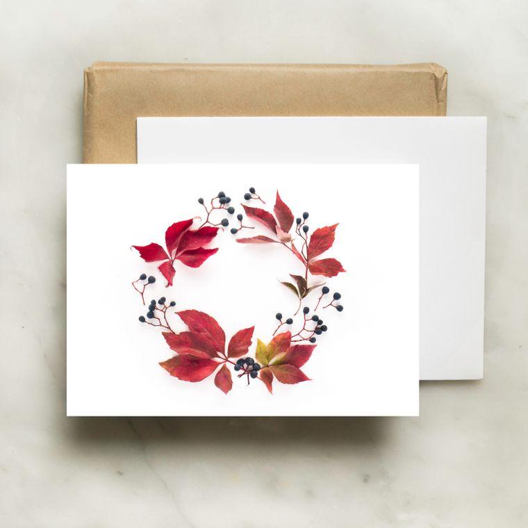 Folding Card - November Wreath