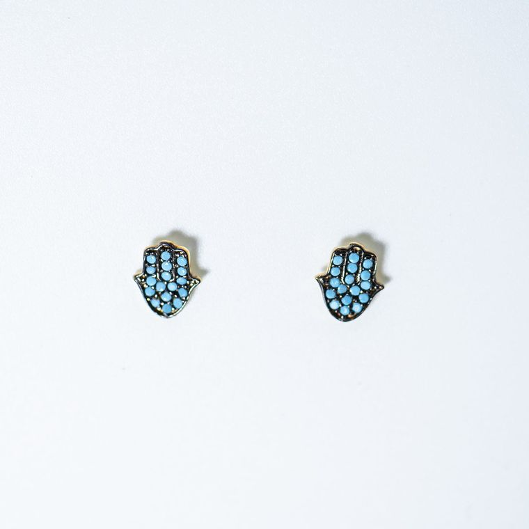Hamsa Turquoise Earrings
